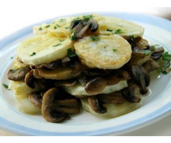 Рецепт                  Картофельно-грибное рагу