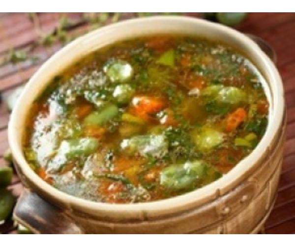 Рецепт                  Суп овощной с бобами