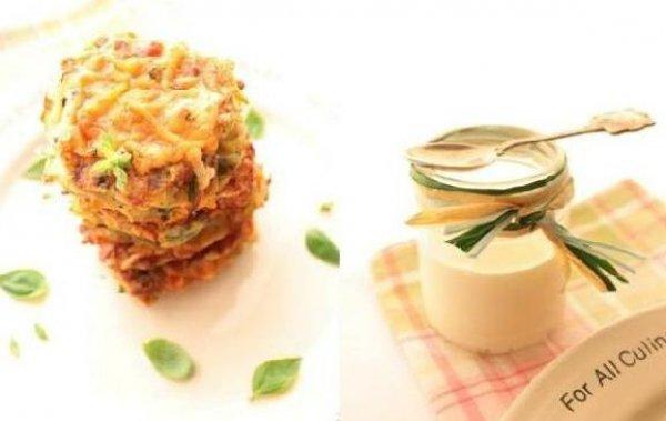 Рецепт                  Овощные оладьи с сырной корочкой
