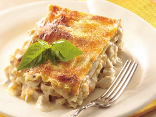 Рецепт                  Лазанья с куриным фаршем и овощами