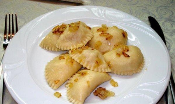 Рецепт                  Вареники с капустой