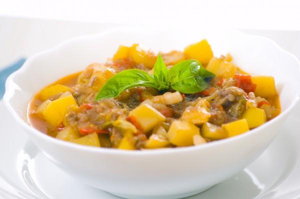 Рецепт                  Рагу из телятины с кабачками и болгарским перцем