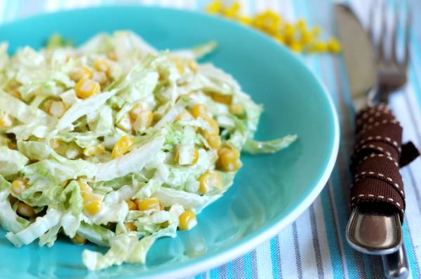 Рецепт                  Салат из пекинской капусты с кукурузой