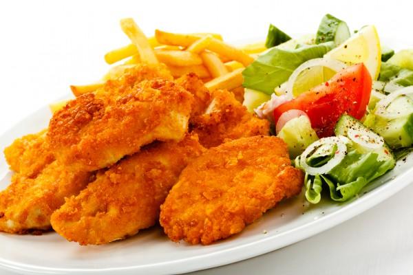 Рецепт                  Куриное филе в чесночной панировке
