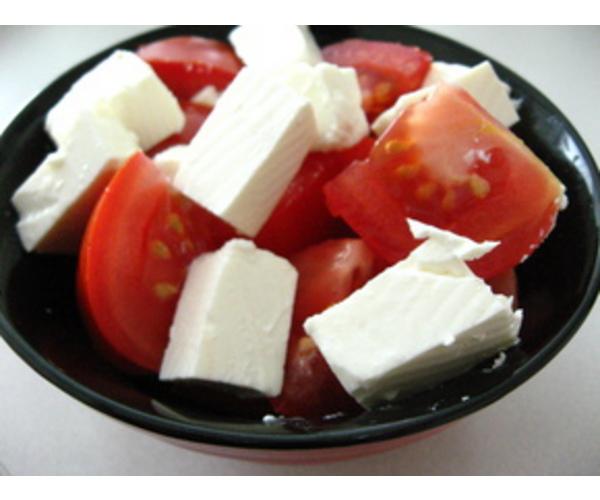 Рецепт                  Салат с помидорами и фетой