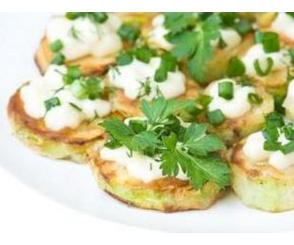 Рецепт                  Кабачки под чесночным соусом
