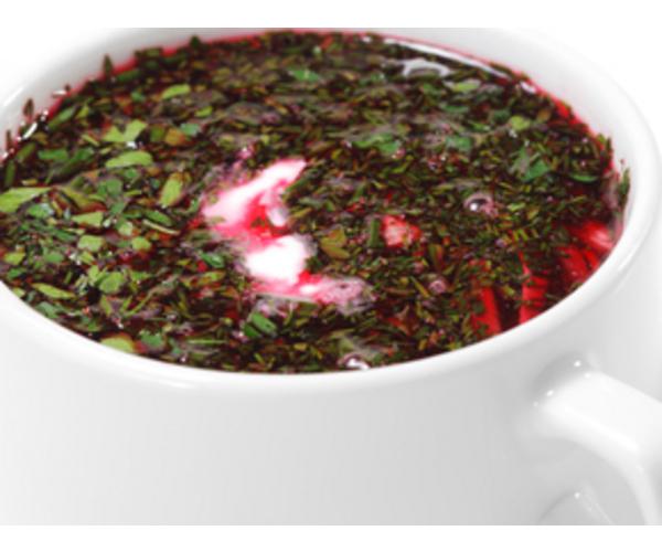 Рецепт                  Ботвинья с редисом и сметаной