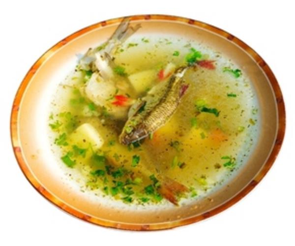 """Рецепт                  Рыбный суп для пикника """"пятиминутный"""""""