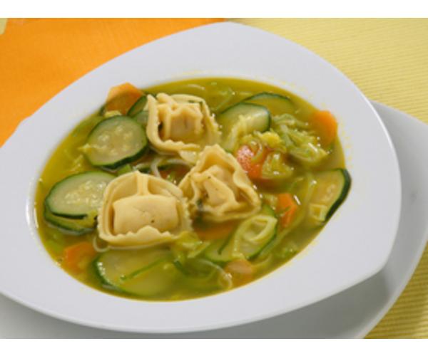Рецепт                  Овощной суп с ракушками