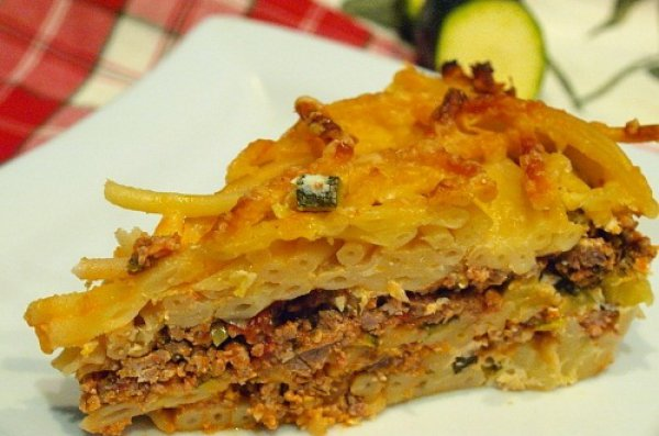 Рецепт                  Макаронная запеканка с мясом