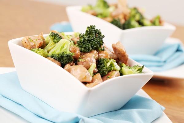 Рецепт                  Жареная курица с брокколи по-китайски
