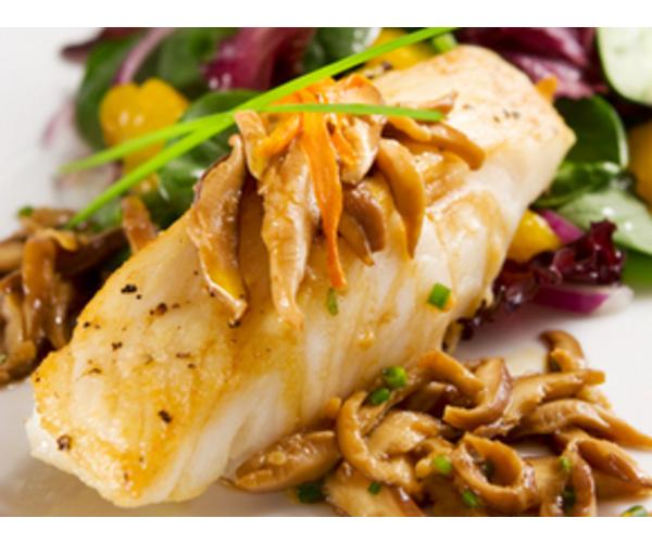 Рецепт                  Рыба под грибным соусом