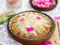 Пирог с ревенем на сметане
