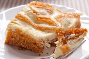 Тыквенный пирог с крем-сыром