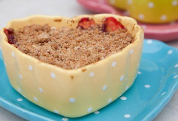 Рецепт                  Яблочный крамбль в форме сердца