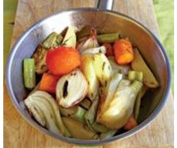 Рецепт                  Жареные овощи, с ароматом базилика