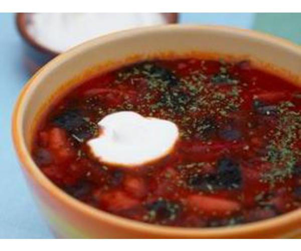 Рецепт                  Борщ с морской капустой