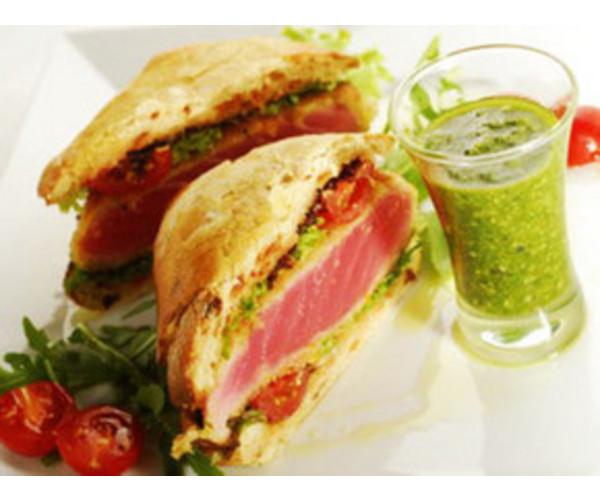 Рецепт                  Бутерброд с красным тунцом