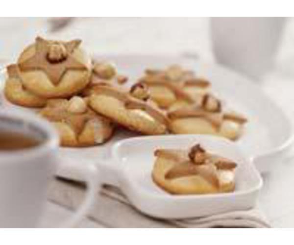Рецепт                  Двухцветное песочное печенье