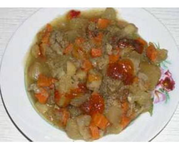 Рецепт                  Рагу из красной рыбы и моркови