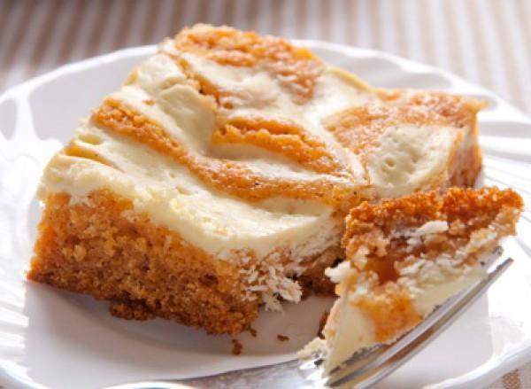Рецепт                  Тыквенный пирог с начинкой из сливочного сыра