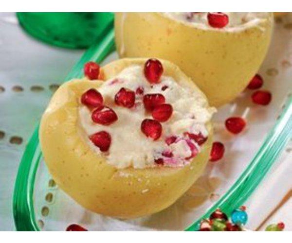 Рецепт                  Яблоки, запеченные с творогом и гранатами