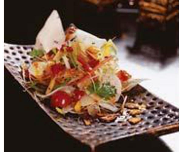 Рецепт                  Салат с гребешком и овощами