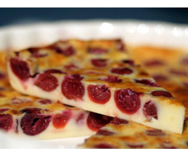 Рецепт                  Клафути с вишнями