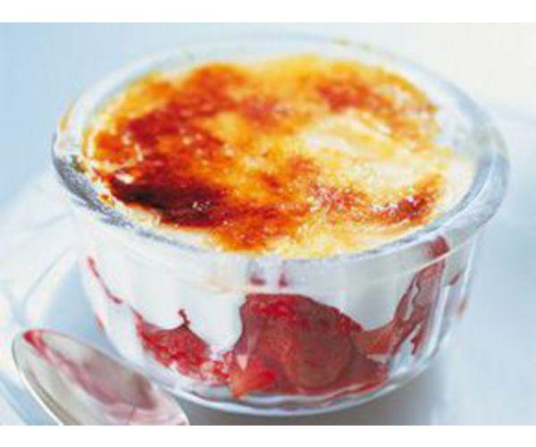 Рецепт                  Крем-брюле с клубникой