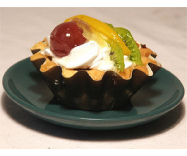 Рецепт                  Корзиночки с творогом и фруктами