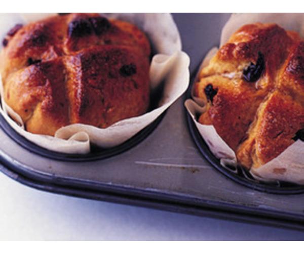 Рецепт                  Липкие крестовые булочки
