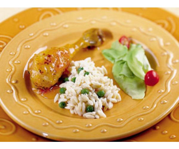 Рецепт                  Куриные ножки с имбирем и абрикосами