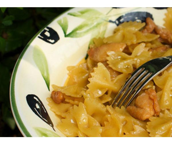 Рецепт                  Фарфалле с медом
