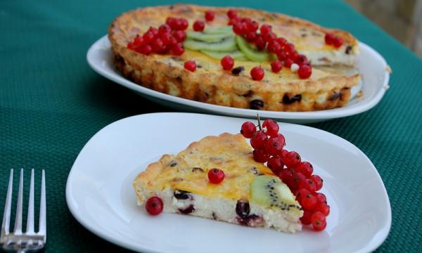 Рецепт                  Творожный пудинг с ягодами