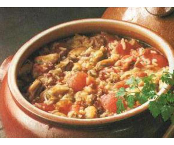 Рецепт                  Суп из моллюсков и риса