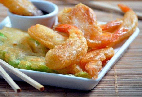 Рецепт                  Темпура из креветок