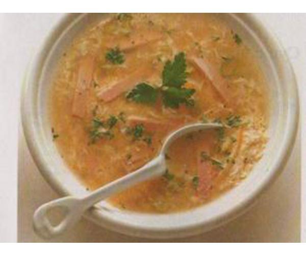 Рецепт                  Суп из яичных хлопьев
