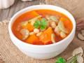Тыквенный суп с говядиной и фасолью
