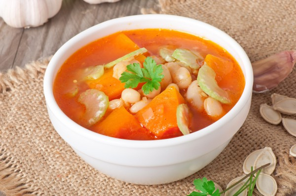 Рецепт                  Тыквенный суп с говядиной и фасолью