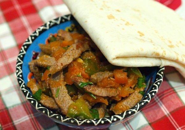 Рецепт                  Телятина по-мексикански