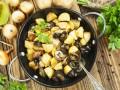 Постный жареный картофель с грибами