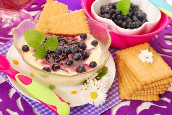 Рецепт                  Манная каша с ягодами