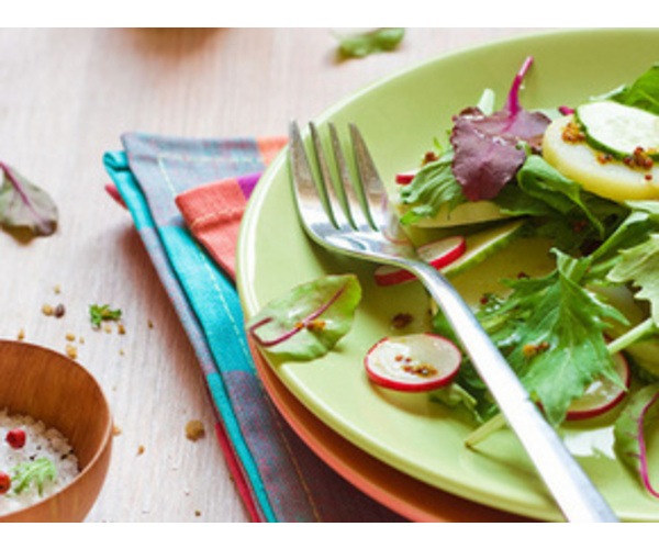 Рецепт                  Картофельный салат с огурцами и редиской