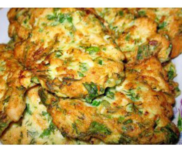 Рецепт                  Куриные оладьи