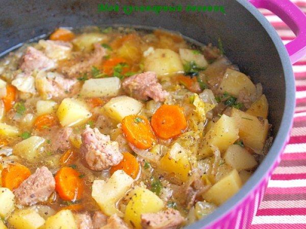 Рецепт                  Густой суп из телятины с овощами