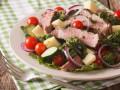Овощной салат с говяжьим стейком