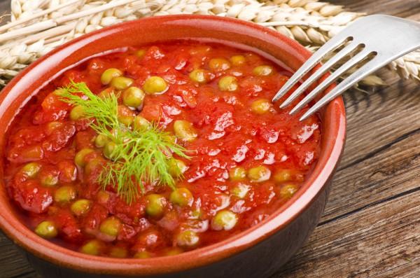 Рецепт                  Великий пост 2015: Горошек в томатном соусе