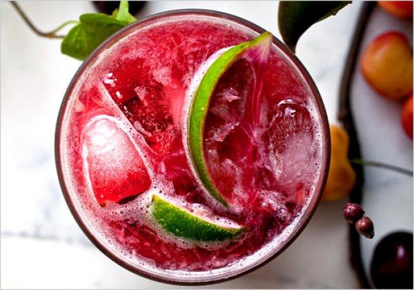 Рецепт                  Вишневый коктейль с лаймом