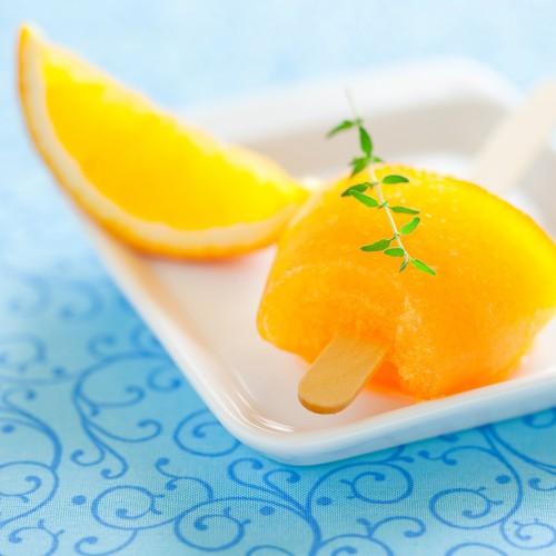Рецепт                  Апельсиновый лед на палочке