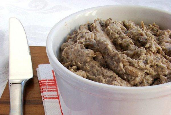 Рецепт                  Грибной паштет с зеленью